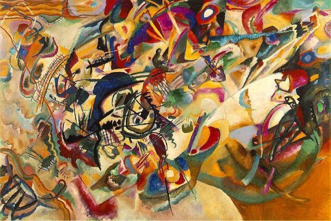 """Kandinsky: """"ComposiçãoVII"""", segundo o artista a obra mais complexa que alguma vez criou..."""