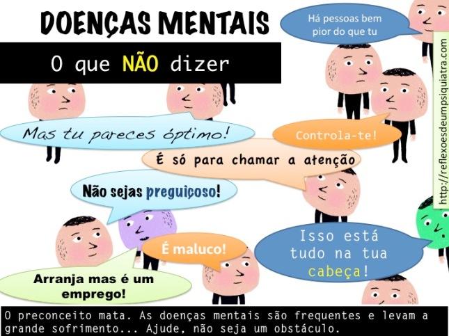doenças mentais o que não dizer